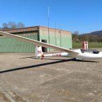Die fertig reparierte LS4 vor dem Hangar in Altdorf-Wallburg.